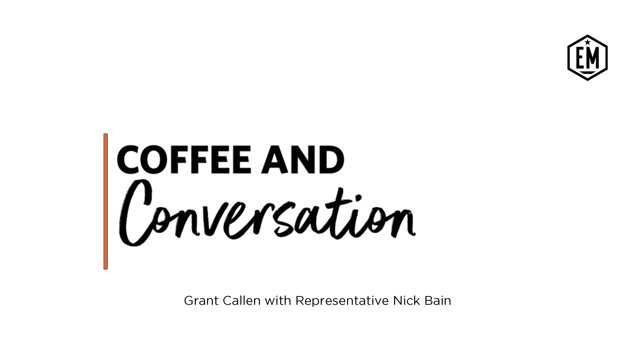 Coffee and Conversation Website featured image template